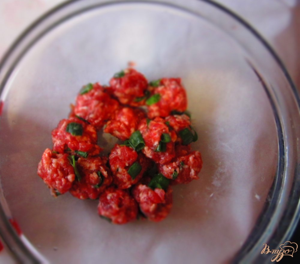 Фото приготовление рецепта: Картофельный суп с мясными фрикадельками шаг №1