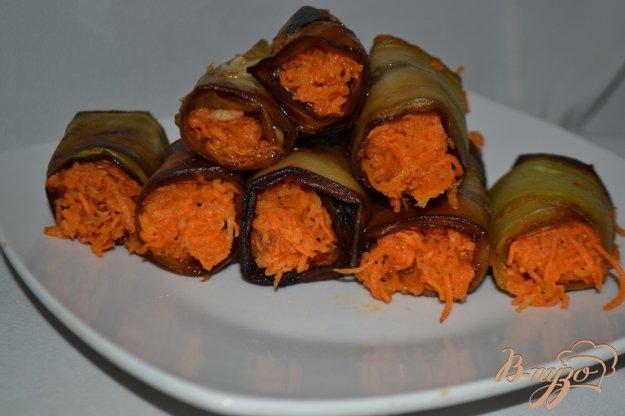 Рецепт Рулеты из баклажан с корейской морковью