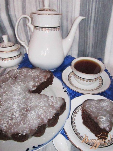 Рецепт Манный кофейный пирог с кокосовым кремом