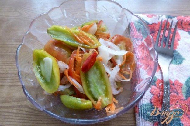 фото рецепта: Закуска из зеленых помидоров