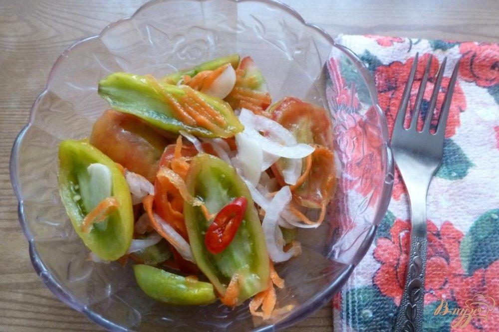 Фото приготовление рецепта: Закуска из зеленых помидоров шаг №5