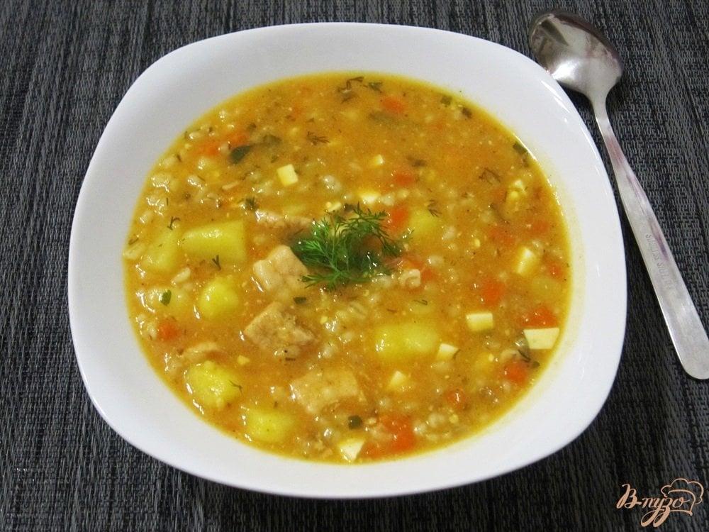 Фото приготовление рецепта: Ароматный суп-харчо шаг №11