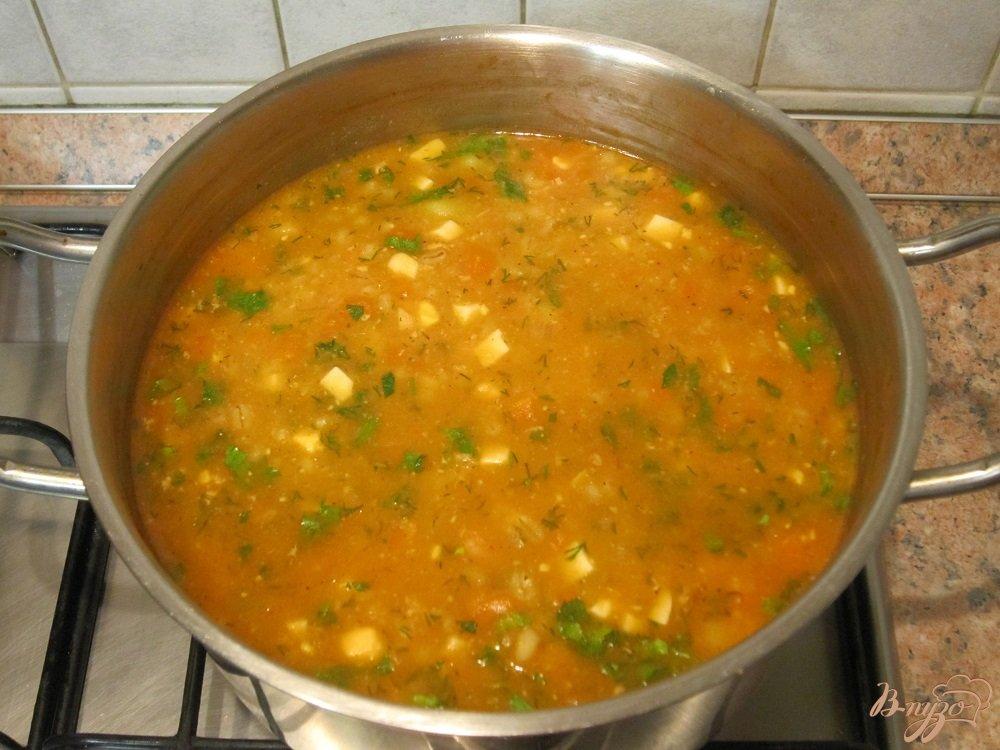 Фото приготовление рецепта: Ароматный суп-харчо шаг №10