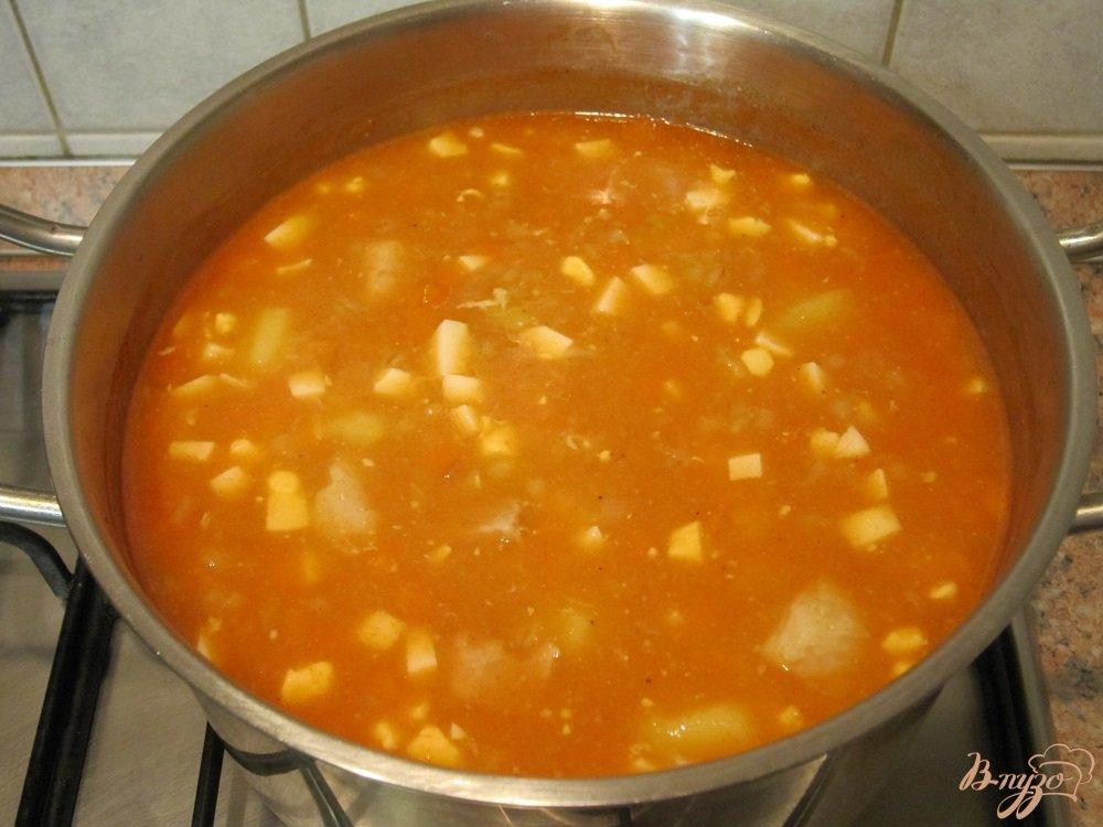 Фото приготовление рецепта: Ароматный суп-харчо шаг №9