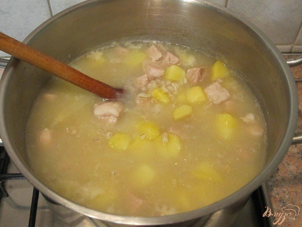 Фото приготовление рецепта: Ароматный суп-харчо шаг №6