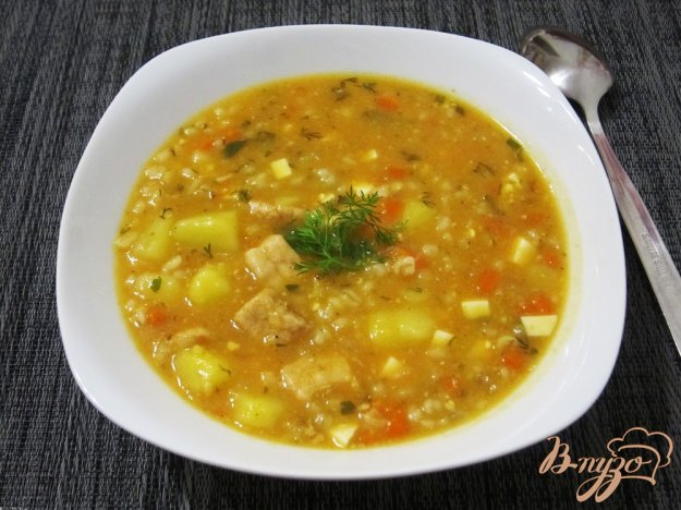 фото рецепта: Ароматный суп-харчо