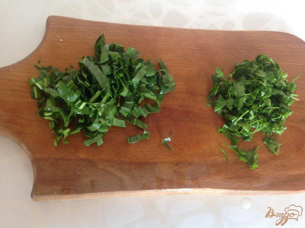 Фото приготовление рецепта: Зеленый борщ шаг №4