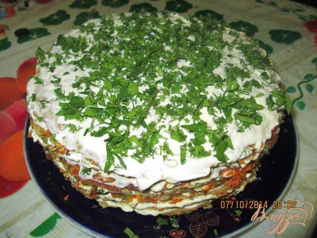 фото рецепта: Печеночный торт