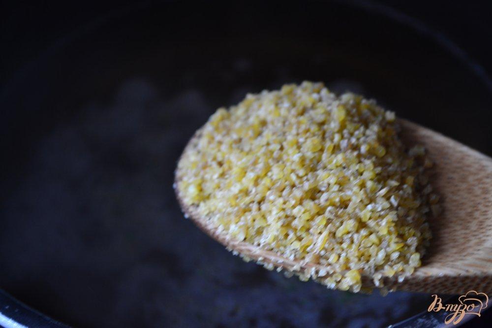 Фото приготовление рецепта: Суп-пюре из печеных овощей с булгуром шаг №3