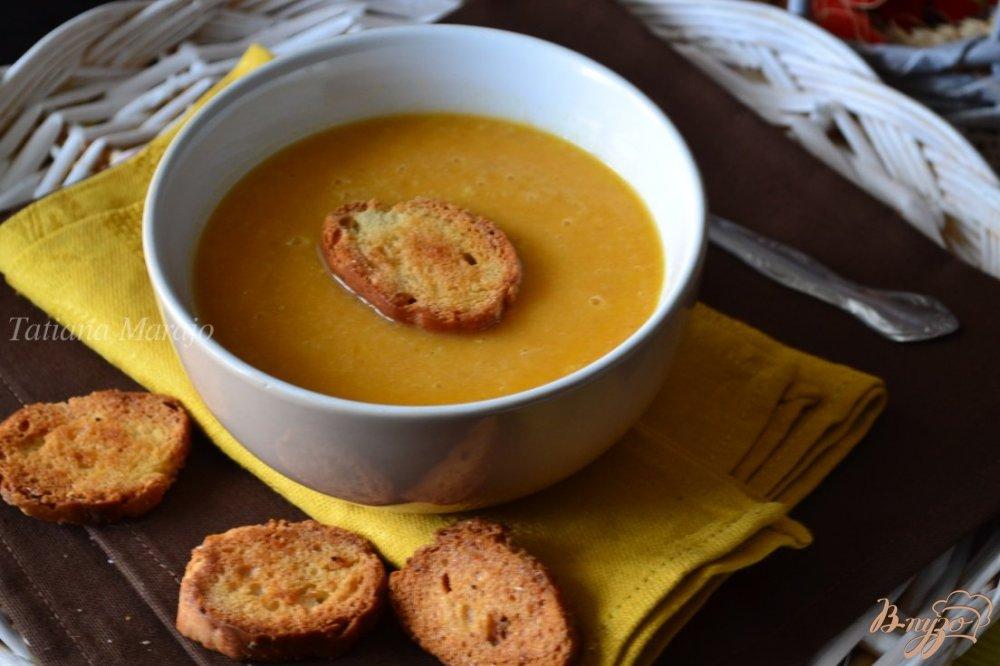 Фото приготовление рецепта: Суп-пюре из печеных овощей с булгуром шаг №6