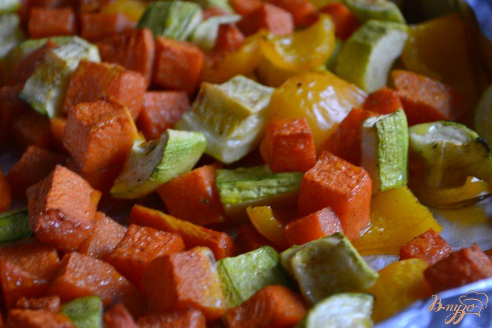 Фото приготовление рецепта: Суп-пюре из печеных овощей с булгуром шаг №2