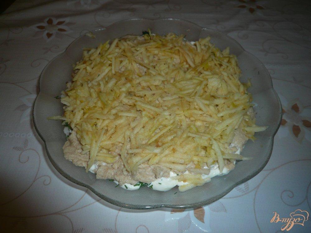 Салат с печенью трески и яблоком рецепт