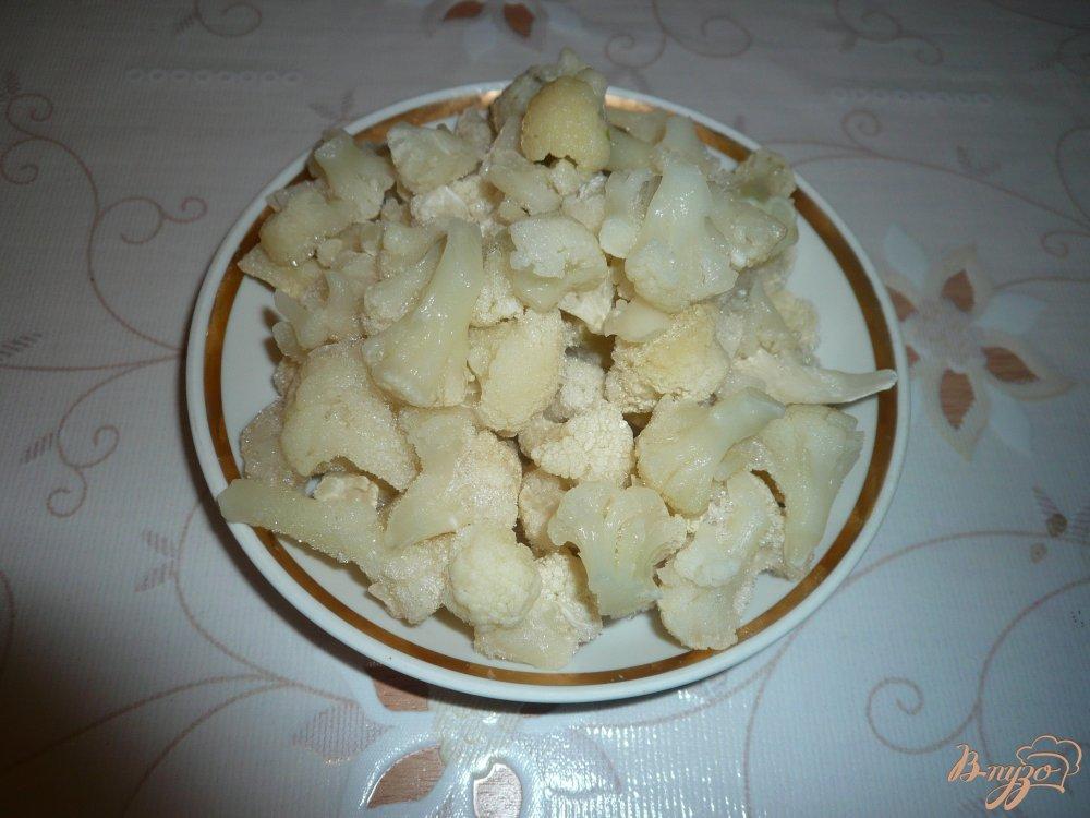 Фото приготовление рецепта: Похлебка с фасолью и цветной капустой шаг №3