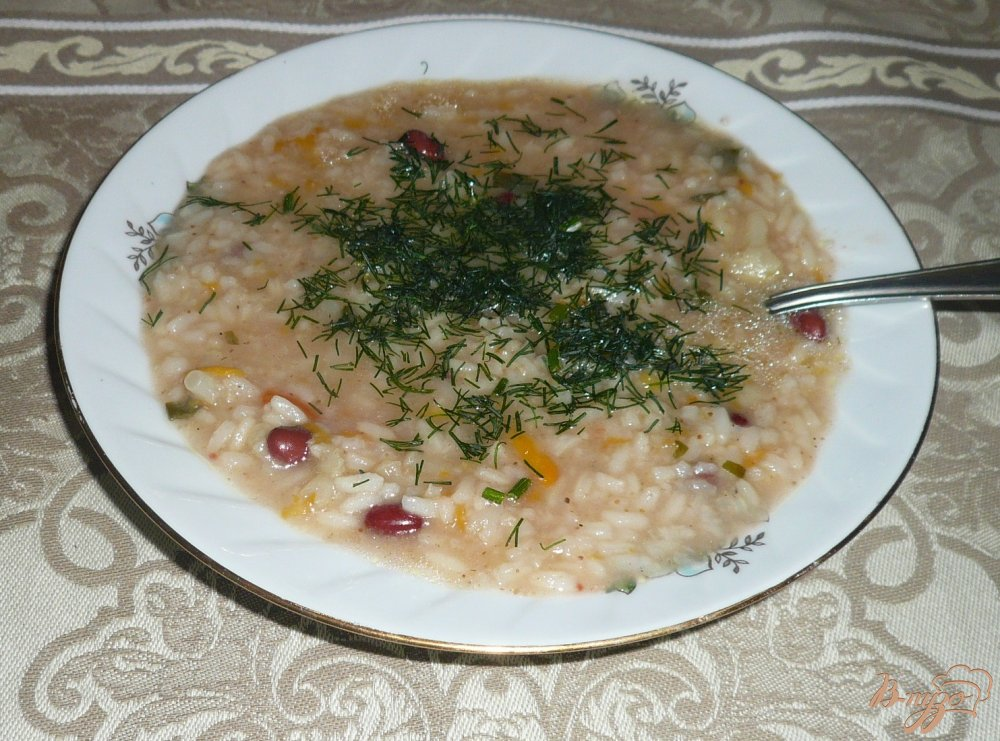 Фото приготовление рецепта: Похлебка с фасолью и цветной капустой шаг №6