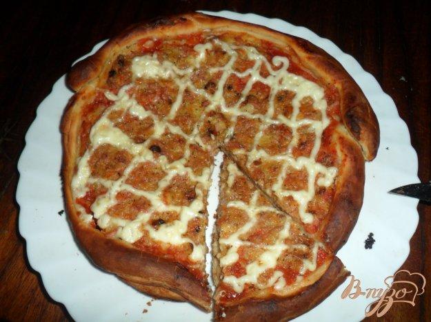 Рецепт Пицца с жаренным луком