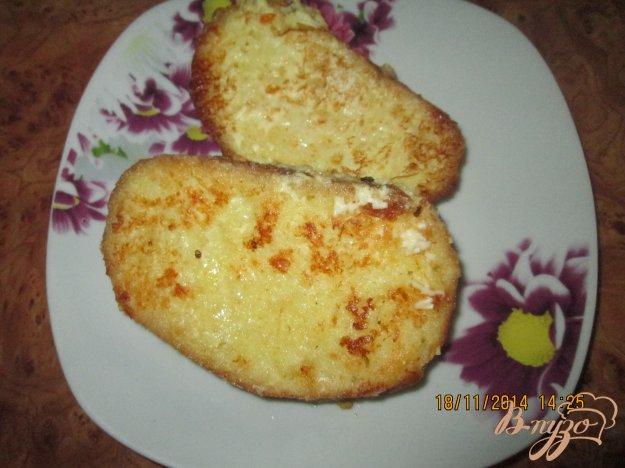 Рецепт Гренки с яйцом и плавленым сыром