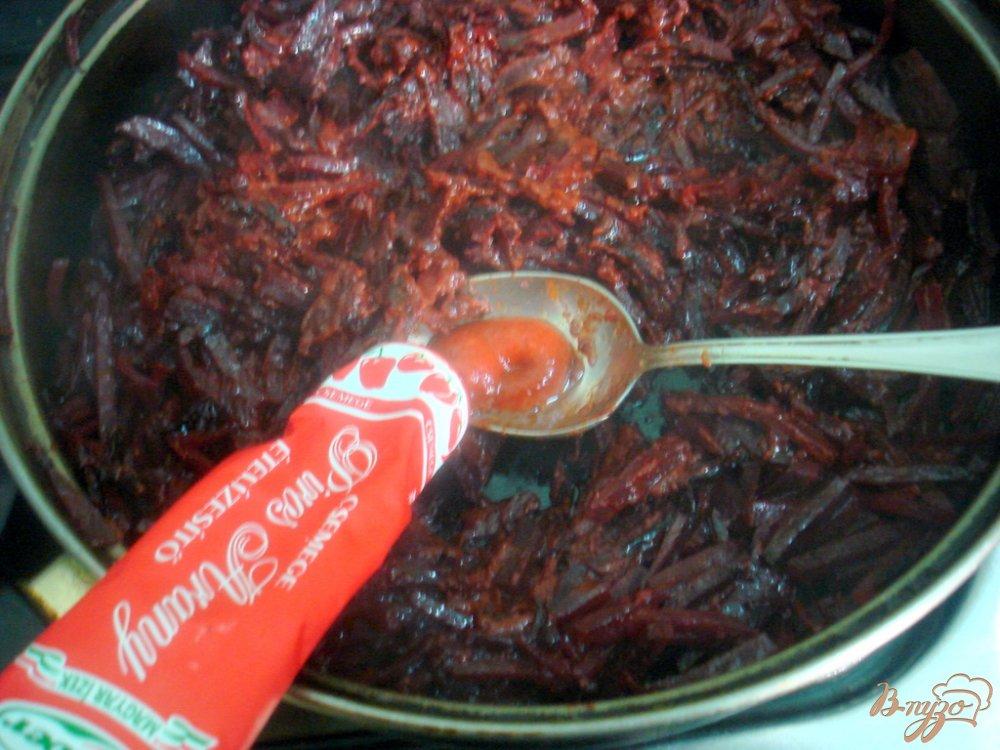 Фото приготовление рецепта: Борщ на свинине шаг №5