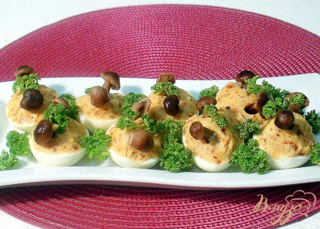Рецепт Яйца фаршированные луком и грибами