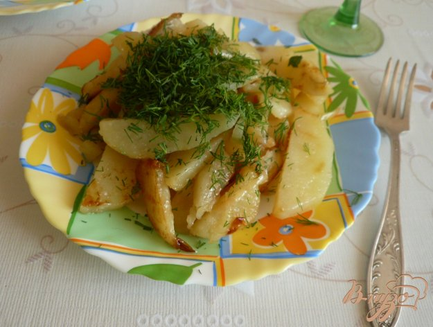 Рецепт Картофель с луком и укропом