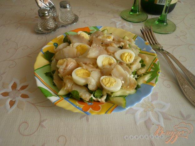 Рецепт Салат с палтусом