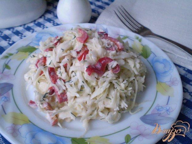 Рецепт Капустный салат с болгарским перцем и укропом