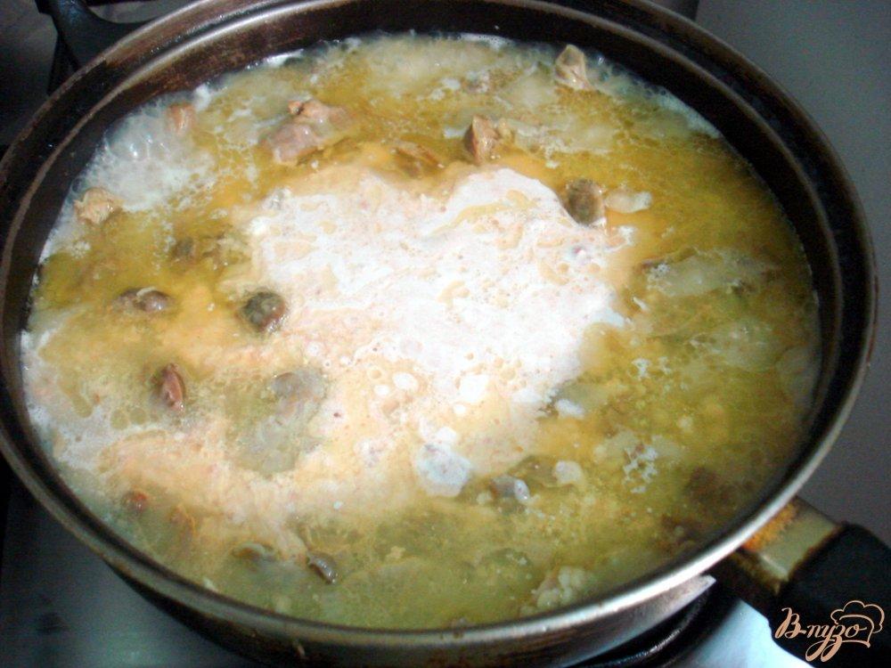 Фото приготовление рецепта: Куриные желудочки в томатно - сметанном соусе шаг №7
