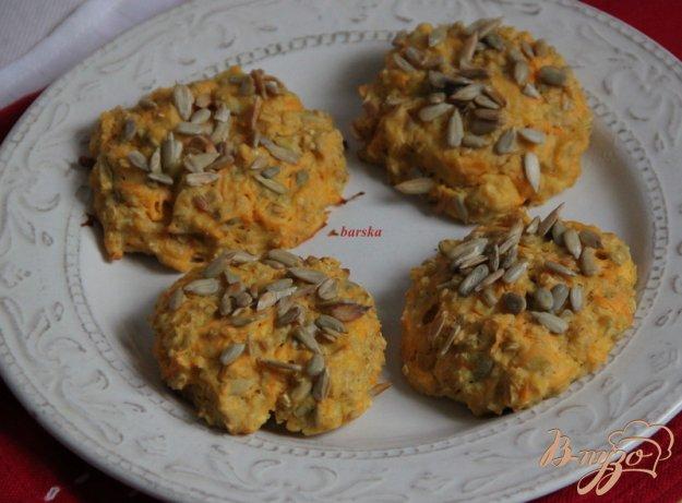 Рецепт Запечёные морковные сырники с семечками
