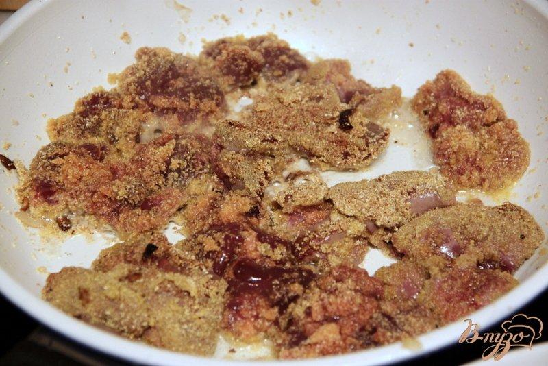 Фото приготовление рецепта: Печень жареная в маринаде шаг №6