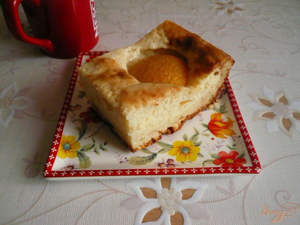 Фото приготовление рецепта: Манник с персиками шаг №8