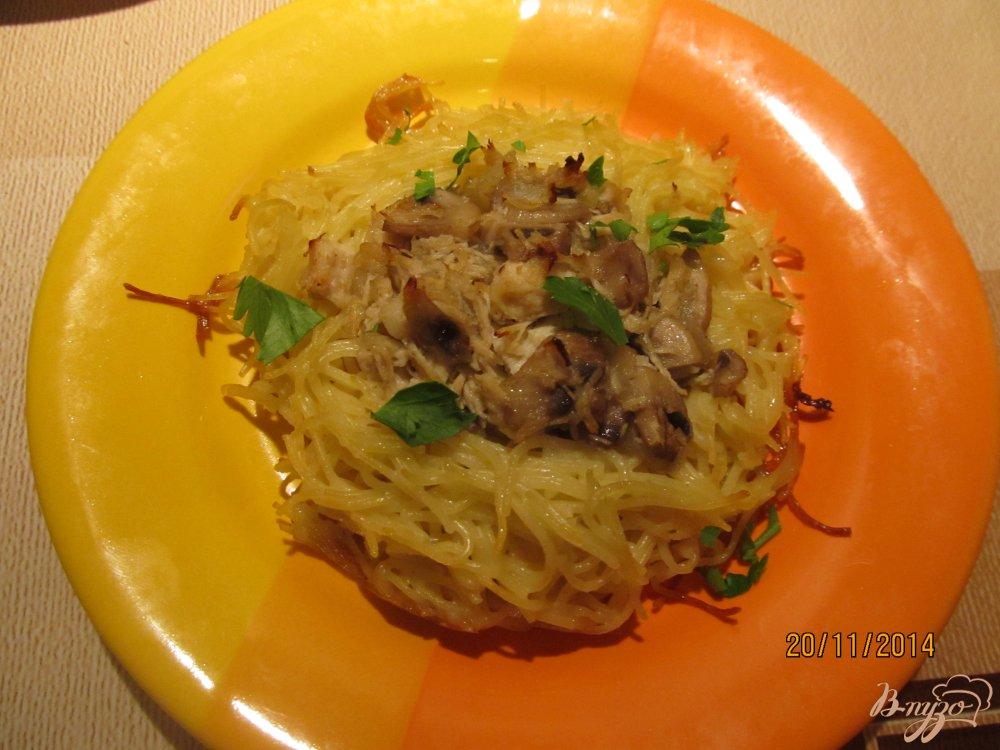 Фото приготовление рецепта: Гнезда из спагетти шаг №7