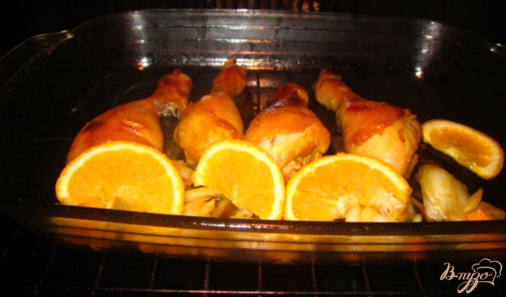 Фото приготовление рецепта: Куриные голени маринованные в соево-апельсиновом маринаде шаг №7