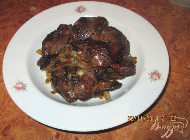 Рецепт Жареная куриная печень с луком