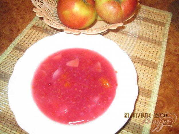 Рецепт Яблочно-малиновый кисель