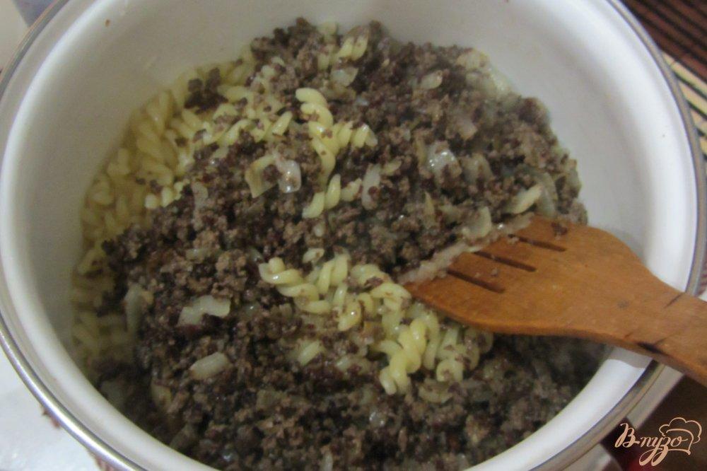 Фото приготовление рецепта: Макароны с идюшими сердечками шаг №9