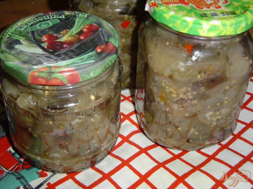 Фото приготовление рецепта: Баклажаны с чесноком и горьким перцем шаг №7