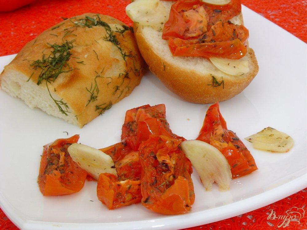 Фото приготовление рецепта: Вяленые помидоры за 30 минут шаг №8