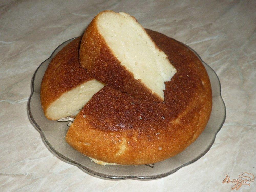 Фото приготовление рецепта: Манник с мягким творогом шаг №6