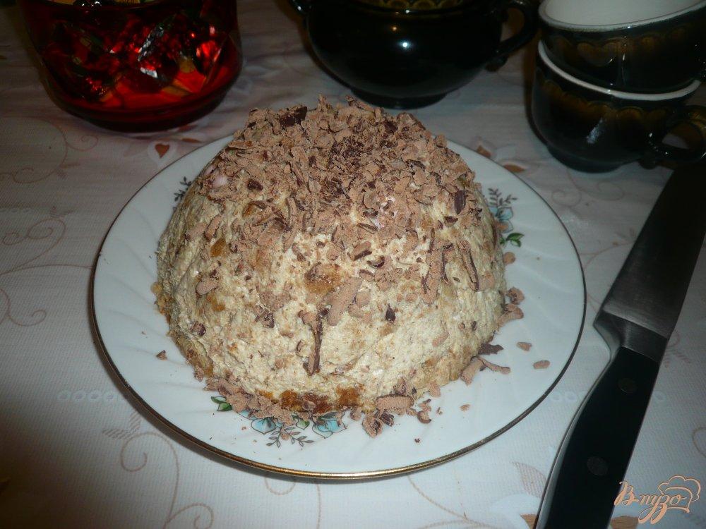 Фото приготовление рецепта: Тортик без выпечки из пряников и зефира шаг №10