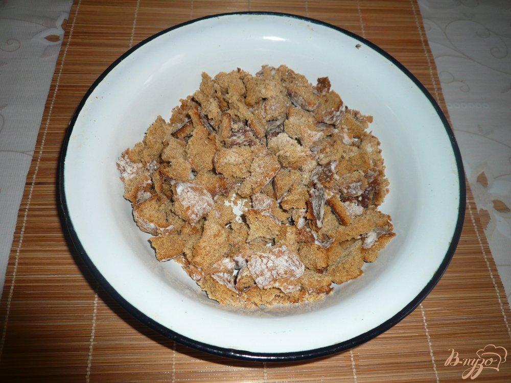 Фото приготовление рецепта: Тортик без выпечки из пряников и зефира шаг №2