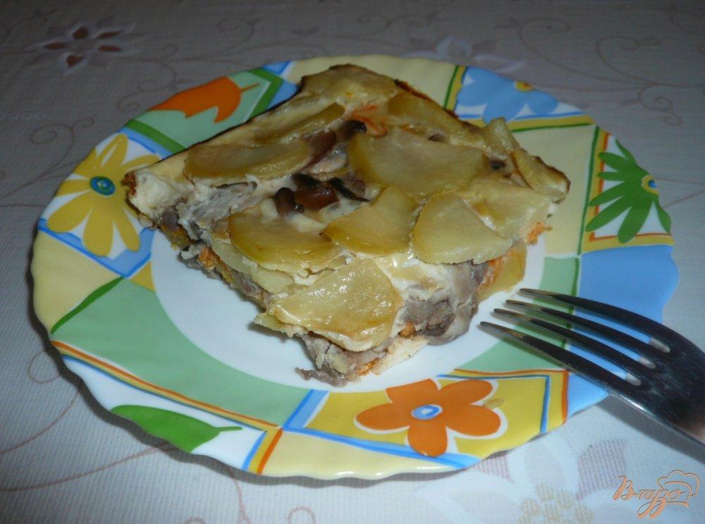 Фото приготовление рецепта: Картофельная запеканка с грибами шаг №13