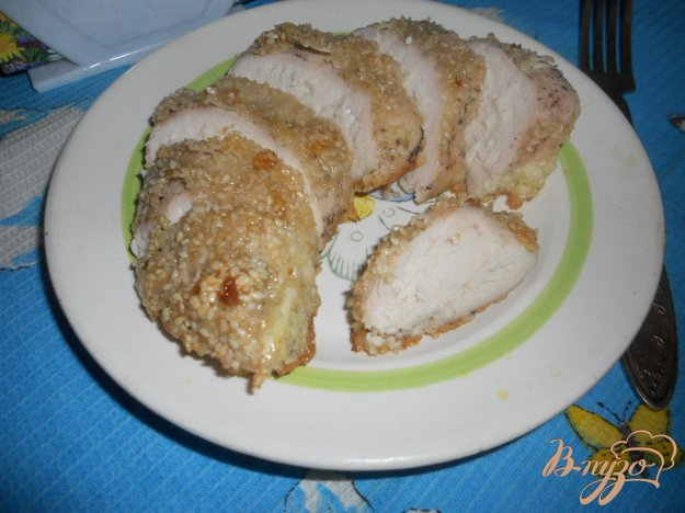 Рецепт Куриная грудка в панировке из кунжута