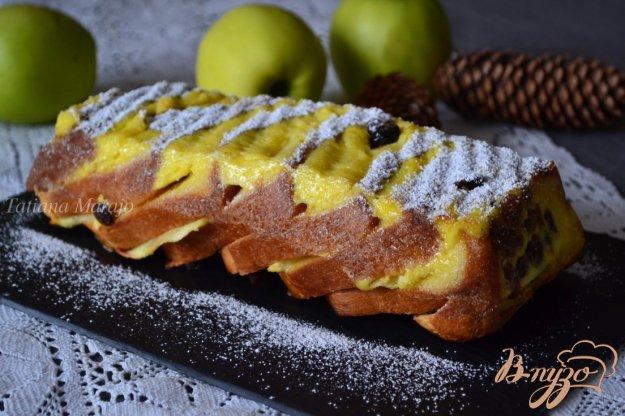 Рецепт Пудинг с яблоками и изюмом