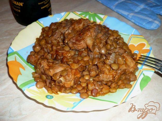 Рецепт Чечевица с мясом в мультиварке