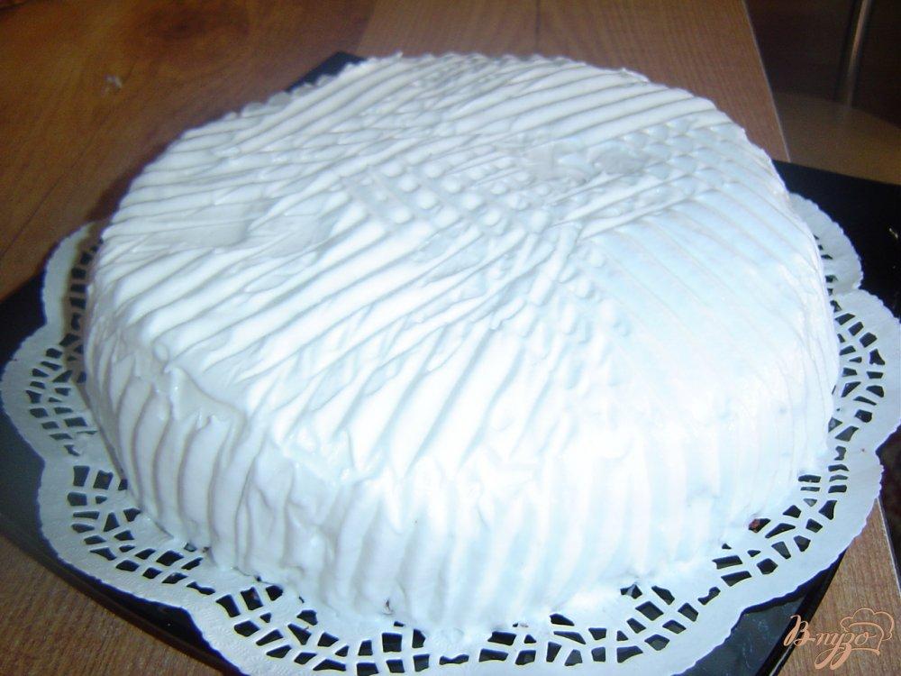 Фото приготовление рецепта: Торт «Зимняя ночь» шаг №8