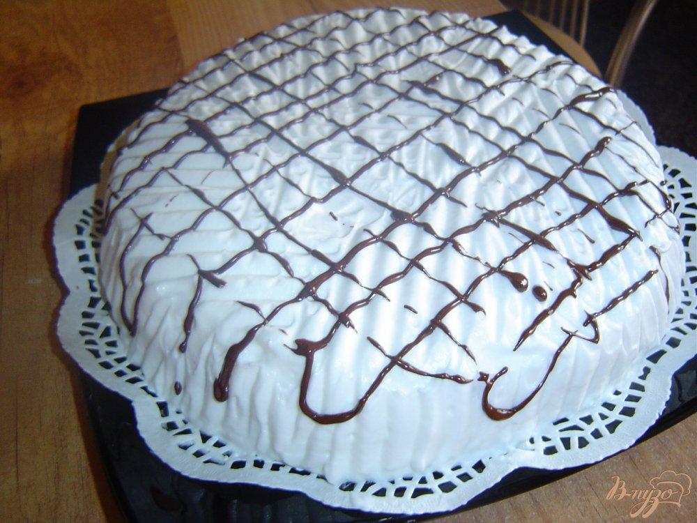 Фото приготовление рецепта: Торт «Зимняя ночь» шаг №9