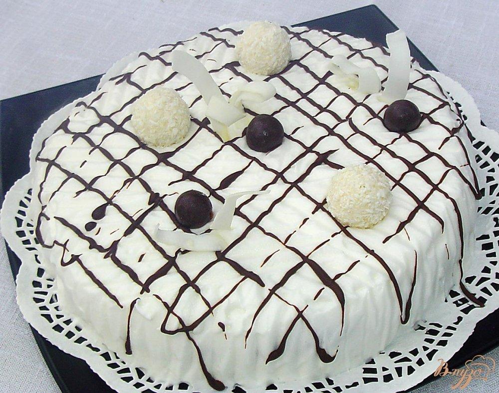 Фото приготовление рецепта: Торт «Зимняя ночь» шаг №10