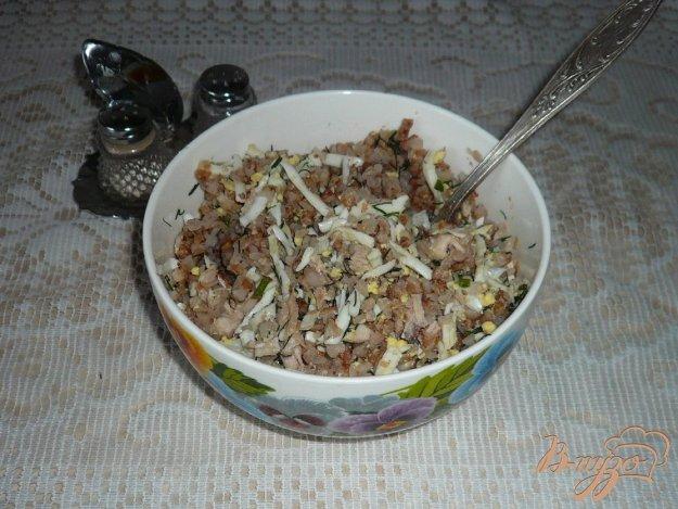 Рецепт Гречневая каша с яйцами и куриным мясом