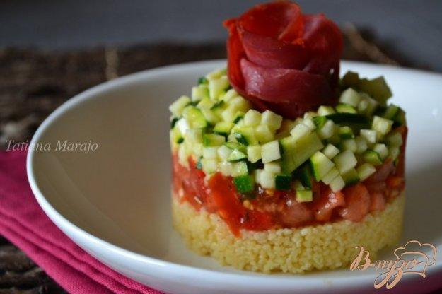 Рецепт Салат-закуска с овощами и крупой кус кус