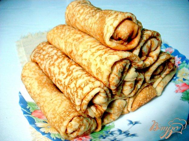 Рецепт Блинчики с индюшачьим мясо