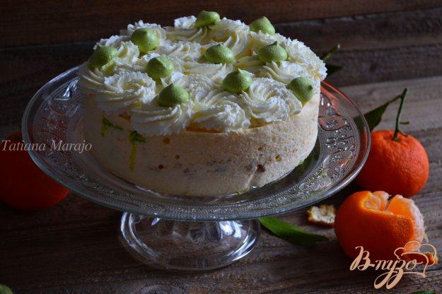 Рецепт Торт с мандариновым кремом и меренгой